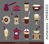 vector collection of flat... | Shutterstock .eps vector #298385222
