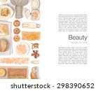 spa and massage elements on... | Shutterstock . vector #298390652