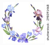 watercolor floral frame with... | Shutterstock . vector #298391468