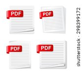 set of different pdf file icons ...