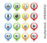 set of sound and music icons | Shutterstock . vector #298400432