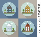 real estate concept  houses for ... | Shutterstock .eps vector #298412252