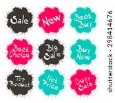 business splashes   blots icons ... | Shutterstock . vector #298414676