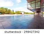 modern building glass wall and... | Shutterstock . vector #298427342
