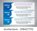 blue option flyer | Shutterstock .eps vector #298427792