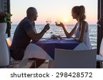 couple dining in sea restaurant ... | Shutterstock . vector #298428572