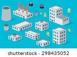 vector isometric icon set... | Shutterstock .eps vector #298435052