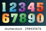 polygon number alphabet... | Shutterstock .eps vector #298435676