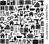 home repair and tools icons | Shutterstock .eps vector #298437965