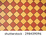 ceramic orange and yellow tile... | Shutterstock . vector #298439096