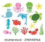 Cute Vector Sea Creatures