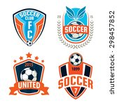 football badge logo template... | Shutterstock .eps vector #298457852
