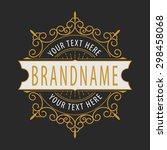 premium monogram flourishes... | Shutterstock .eps vector #298458068