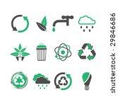 set of 12 environmental... | Shutterstock .eps vector #29846686