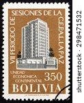 bolivia   circa 1957  a stamp... | Shutterstock . vector #298471532