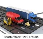 concept of online order... | Shutterstock . vector #298476005