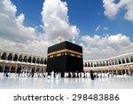 kaaba in masjid al haram in... | Shutterstock . vector #298483886