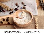 oat flakes with currant dried... | Shutterstock . vector #298486916