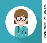 doctor digital design  vector... | Shutterstock .eps vector #298487126