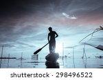 fisherman  monochrome concept  | Shutterstock . vector #298496522