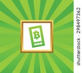 image of bitcoin symbol on...