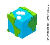 Stylish Cube Earth From Space...