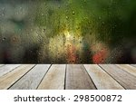 empty wooden table with the... | Shutterstock . vector #298500872