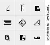 letter g icon or logo design... | Shutterstock .eps vector #298502852