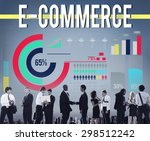 e commerce networking global... | Shutterstock . vector #298512242