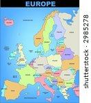 map of europe | Shutterstock .eps vector #2985278