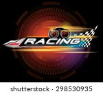 racing sign vector | Shutterstock .eps vector #298530935