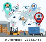 production  transportation ... | Shutterstock .eps vector #298531466