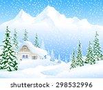 winter landscape | Shutterstock .eps vector #298532996