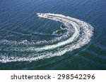 Powerboat And His Trace On The...