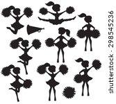 cheerleader vector silhouette | Shutterstock .eps vector #298545236
