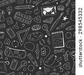 back to school vector doodle... | Shutterstock .eps vector #298545332