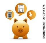 taxes concept design  vector... | Shutterstock .eps vector #298545575