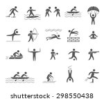 silhouette figures of athletes... | Shutterstock . vector #298550438
