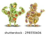 human  thin  fat. nutrition ... | Shutterstock .eps vector #298550606