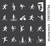 silhouettes figures of athletes ... | Shutterstock . vector #298550786