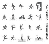 silhouettes figures of athletes ... | Shutterstock . vector #298550792