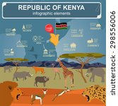 kenya  infographics ... | Shutterstock .eps vector #298556006