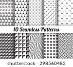 set of 10 abstract patterns.... | Shutterstock .eps vector #298560482