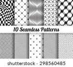 set of 10 abstract patterns.... | Shutterstock .eps vector #298560485