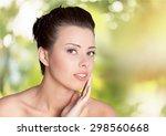 women  beauty  human face. | Shutterstock . vector #298560668