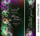 wedding variegated invitation... | Shutterstock .eps vector #298566782