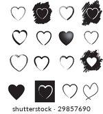 illustration of  a set of black ...   Shutterstock . vector #29857690
