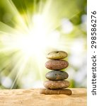 Image Of Stones On Sand In The...