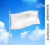 white flag in the wind against... | Shutterstock .eps vector #298594478