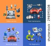 car maintenance and service... | Shutterstock .eps vector #298595108